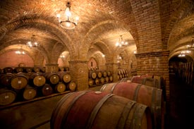 Castello di Amorosa Barrel Cellar